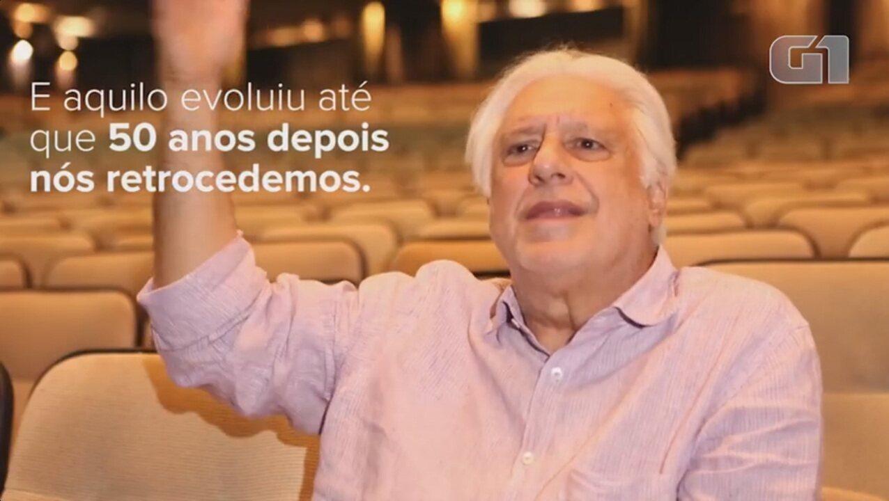 Antônio Fagundes lembra teatro dos anos 60, quando musical 'Hair' levou nudez ao palco, e 'moral do século 19' atual