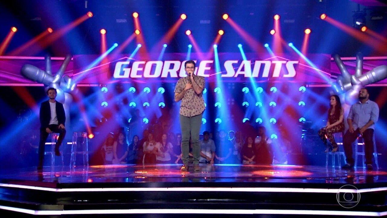 George Sants cantou 'Me Abraça'