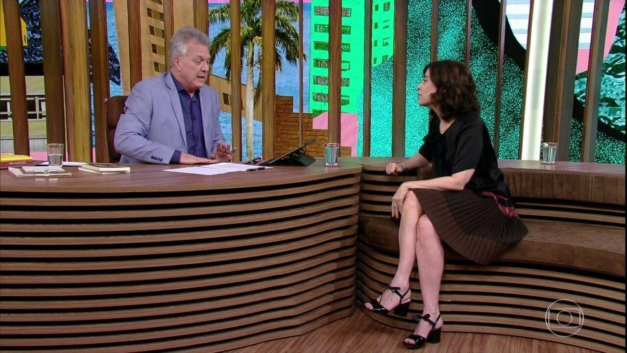 Fernanda Torres relembra trabalho em 'Inocência' e entrevista a Pedro Bial