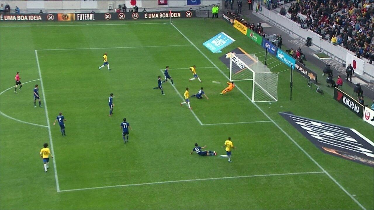 Melhores momentos: Japão 1 x 3 Brasil em amistoso da Seleção Brasileira na França