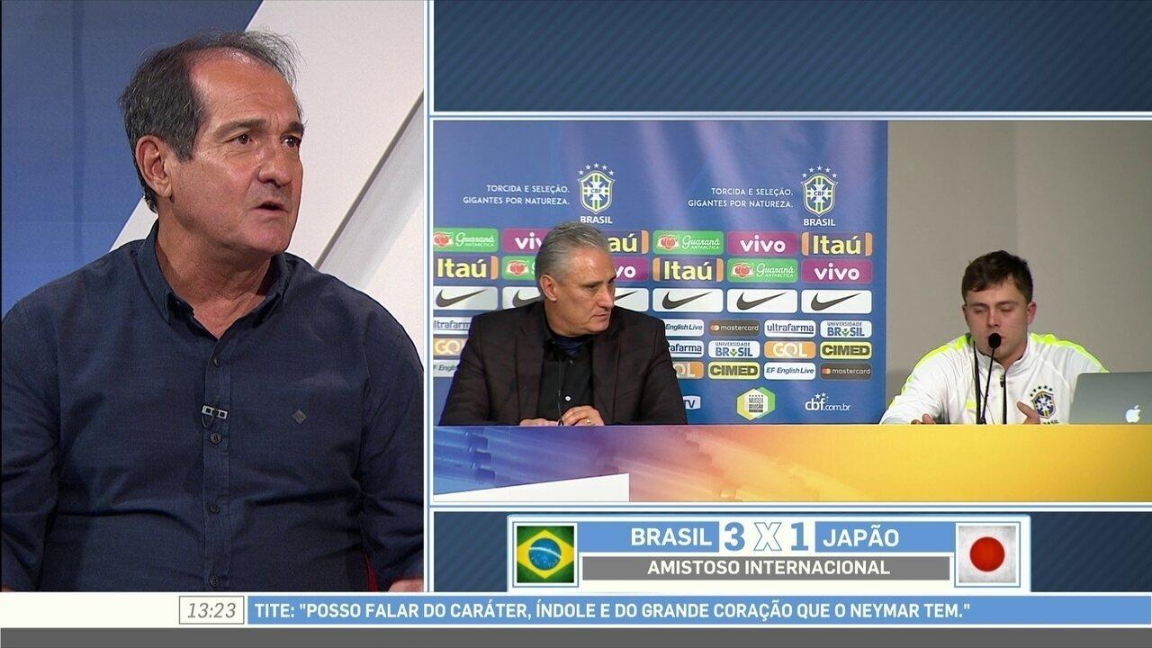 Muricy diz que Neymar precisava desabafar: