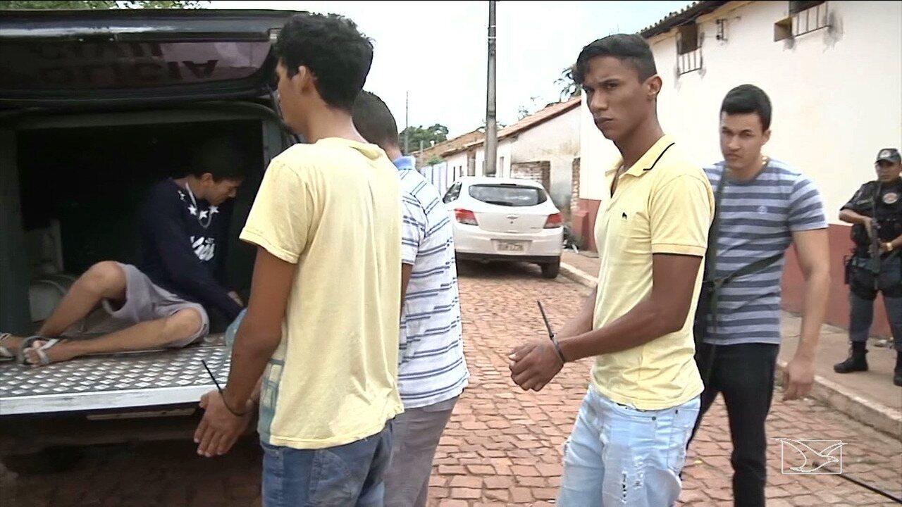 No Maranhão, presos da carceragem da delegacia de Alto Parnaíba para Balsas