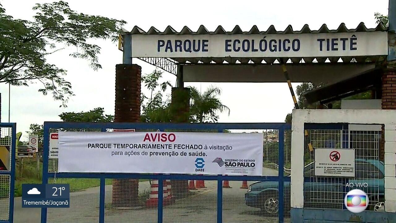 a52a8b1067 Parque Ecológico do Tietê e mais 15 parques da capital estão fechados por  causa da febre