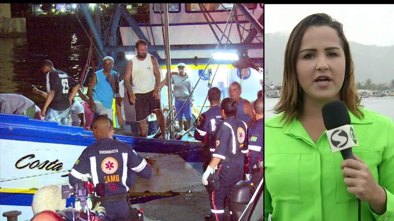 Seguem as buscas a cinco desaparecidos em naufrágio no RJ