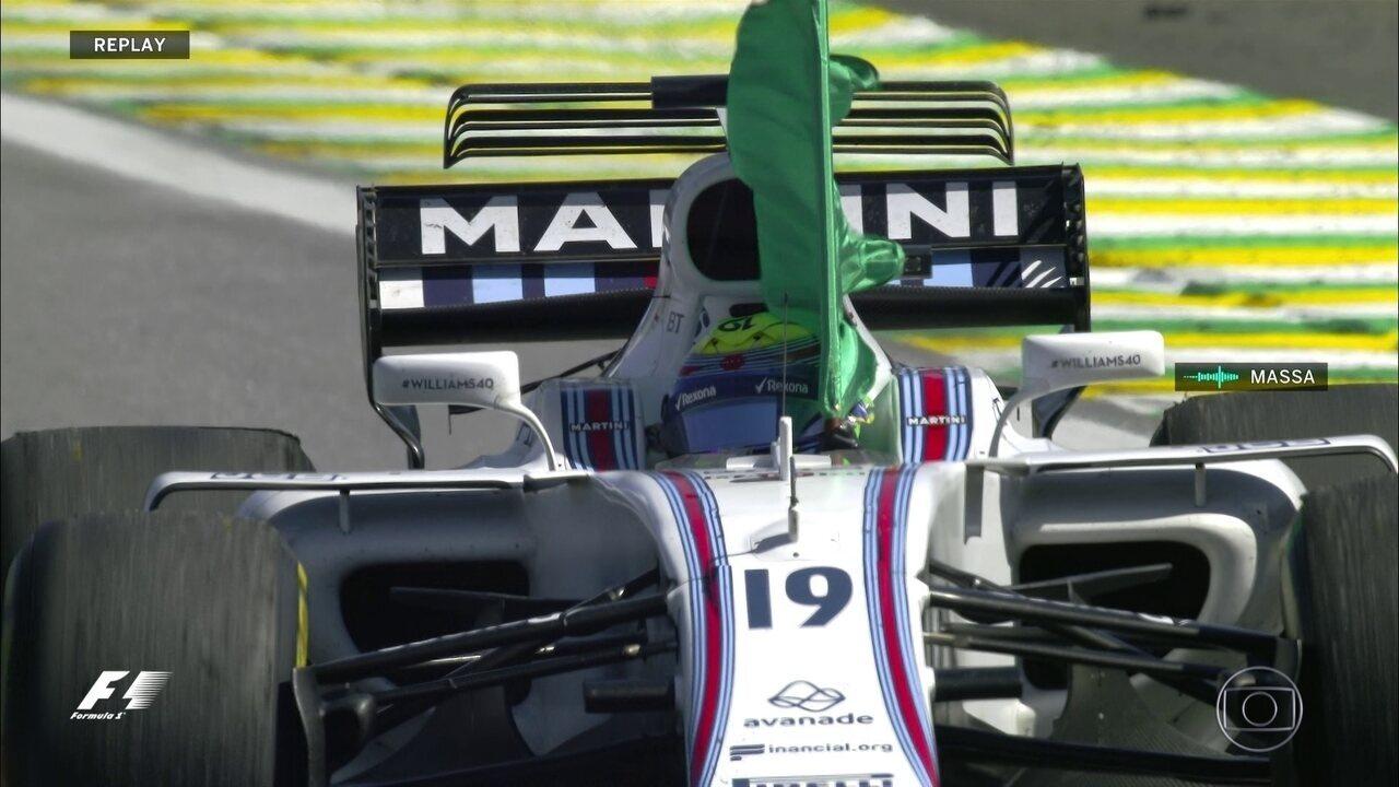 Emoção toma conta de Felipe Massa com depoimento do filho Felipinho