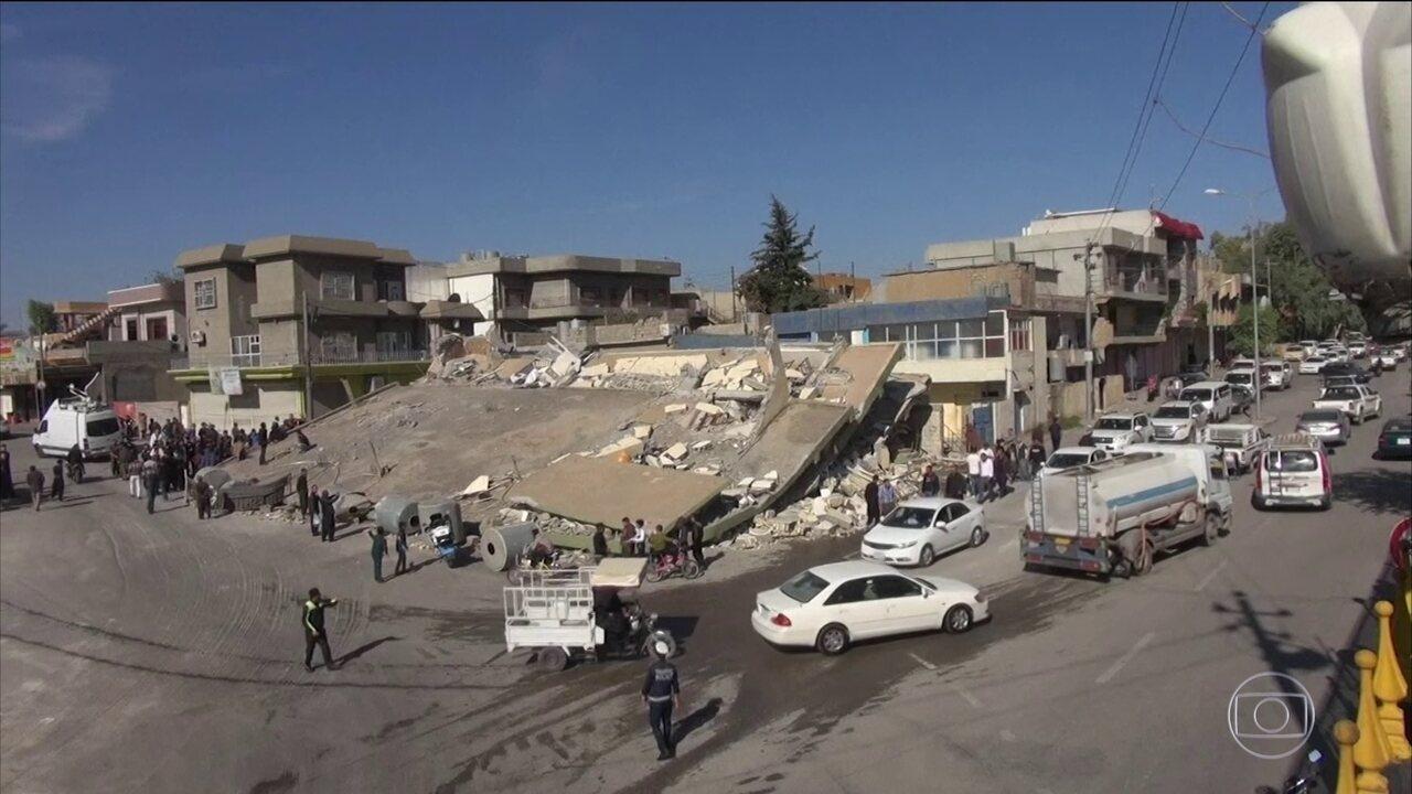 Terremoto entre Irã e Iraque mata mais de trezentas pessoas e deixa quatro mil feridos