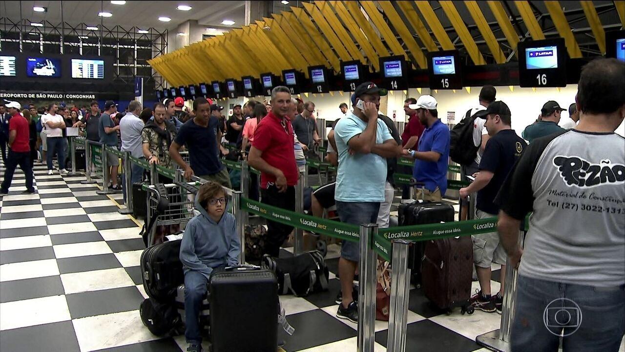 Drone causa fechamento do aeroporto de Congonhas (SP)