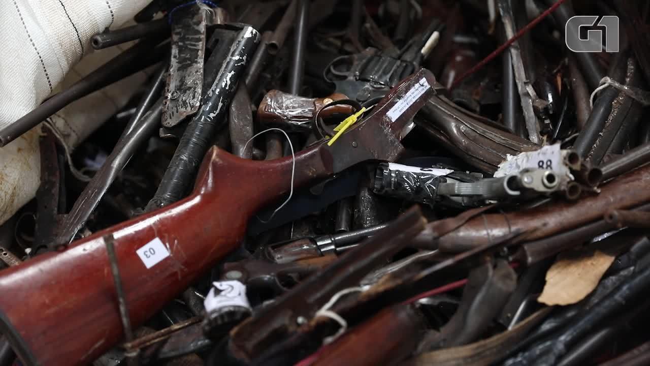 Um ano após decreto, país reutiliza menos de 200 armas apreendidas