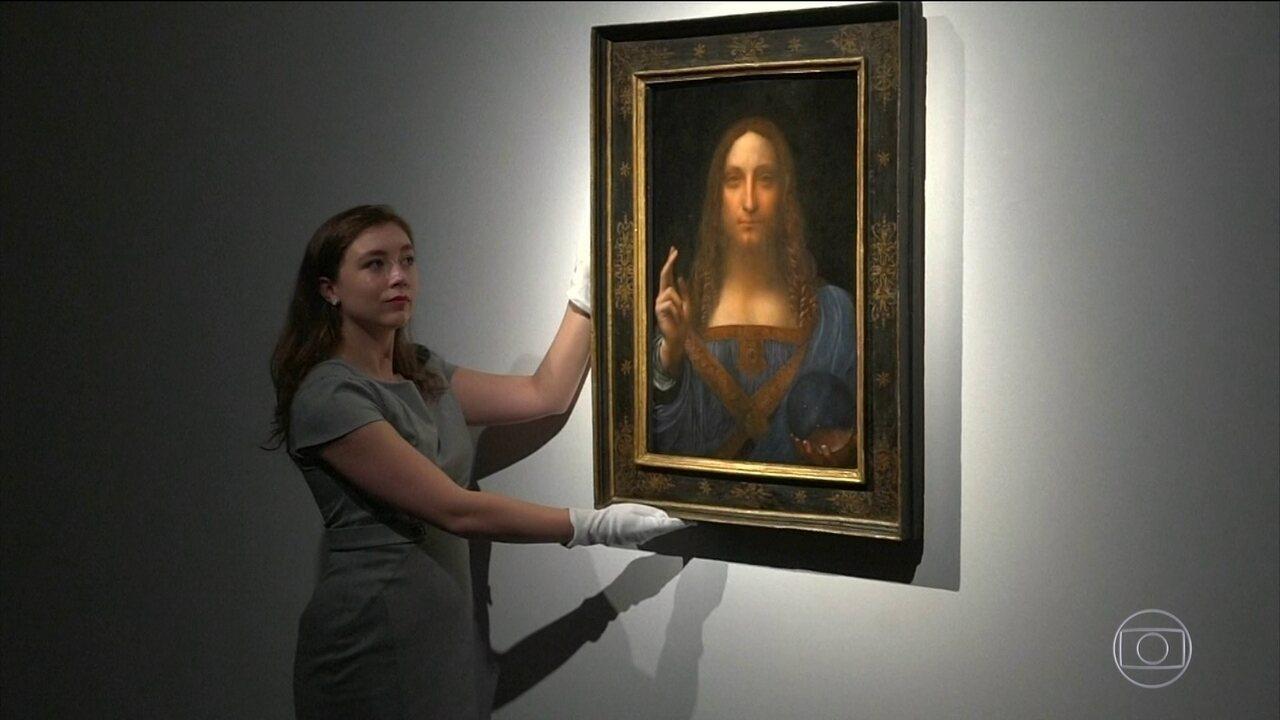 Quadro de Da Vinci é vendido por US$ 450 mi em leilão e se torna obra mais cara do mundo