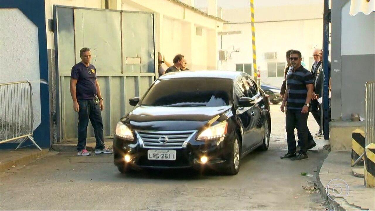 Deputados Jorge Picciani, Paulo Melo e Edson Albertassi deixam a cadeia de Benfica