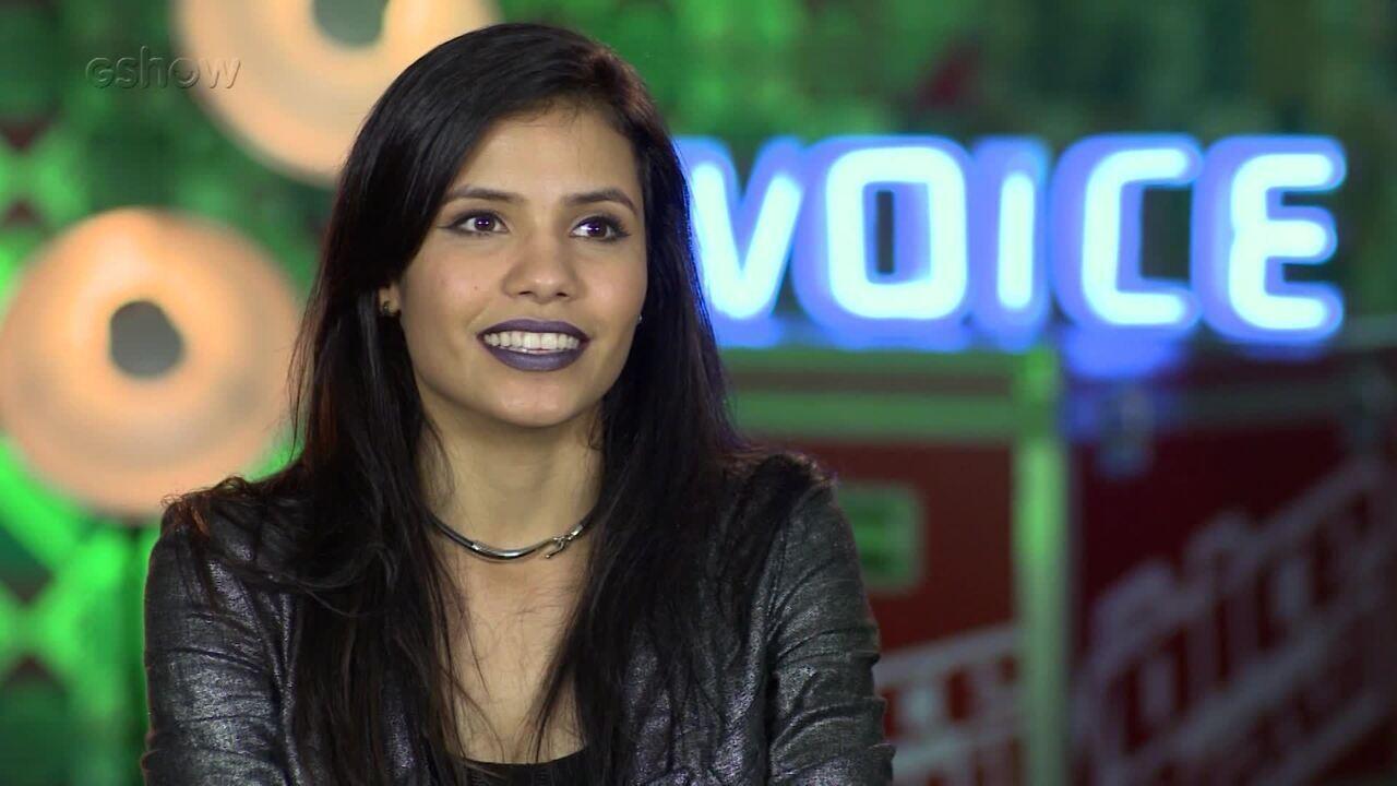 Danielle Dias fala sobre a sensação no palco do Tira-Teima
