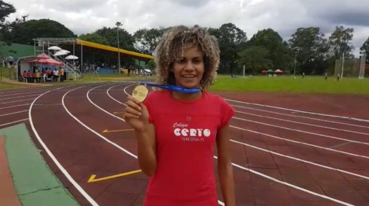 Letícia Lima conquista título nos 400m e vibra com ouro nos Jogos Escolares  da Juventude 708291ac3d702