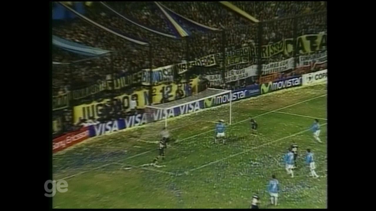 Grêmio perde por 3 a 0 para o Boca no primeiro jogo da final da Libertadores de 2007
