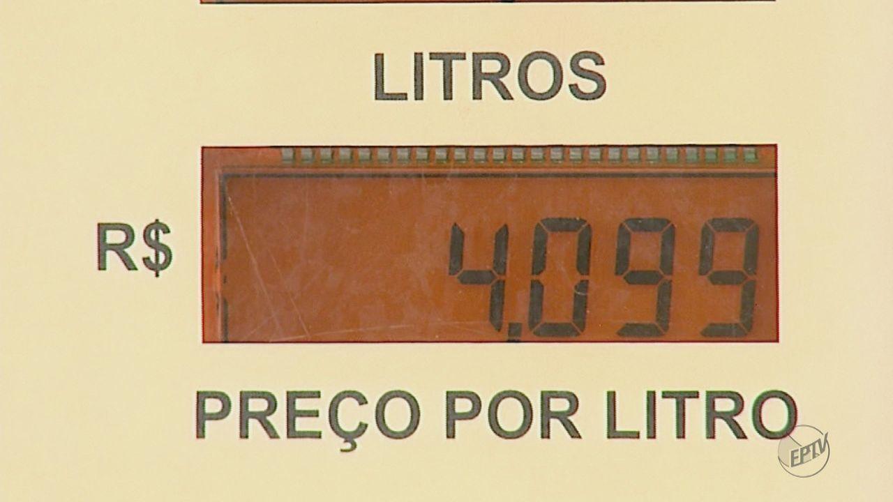 Valor do litro de gasolina passa dos R$ 4 em postos de combustíveis de Matão