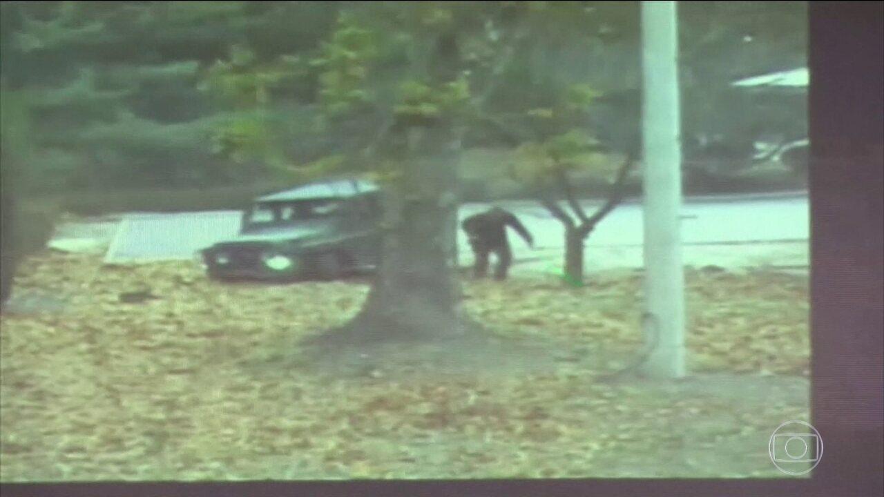 Resultado de imagem para Vídeo mostra fuga de soldado norte-coreano para Coreia do Sul