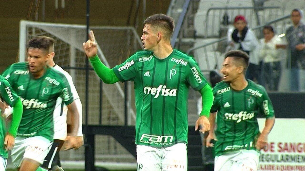 Aníbal marca, e Palmeiras vence Corinthians na primeira final da Copa do Brasil Sub-17