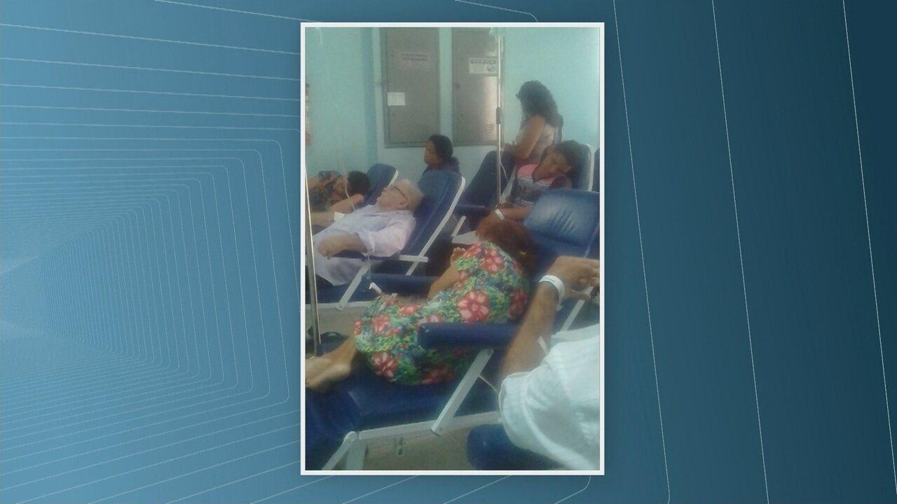 Imagens internas mostram superlotação no maior hospital público de Roraima