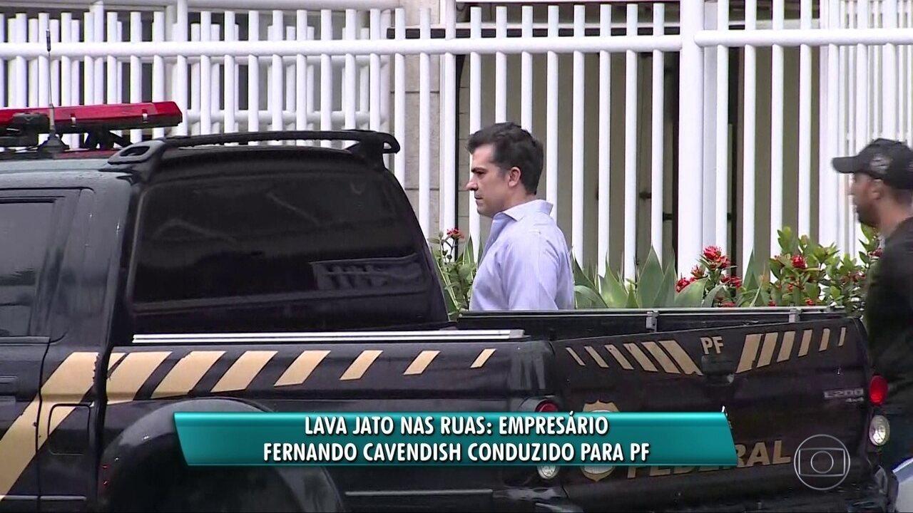 Fernando Cavendish é conduzido para depor na Polícia Federal na Operação C'est Fini