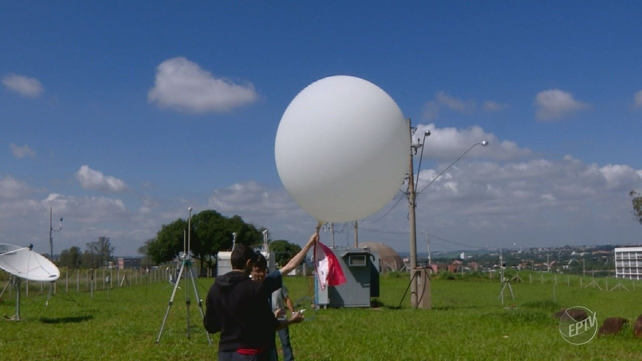 Cepagri da Unicamp utiliza balões para aumentar precisão na previsão do tempo