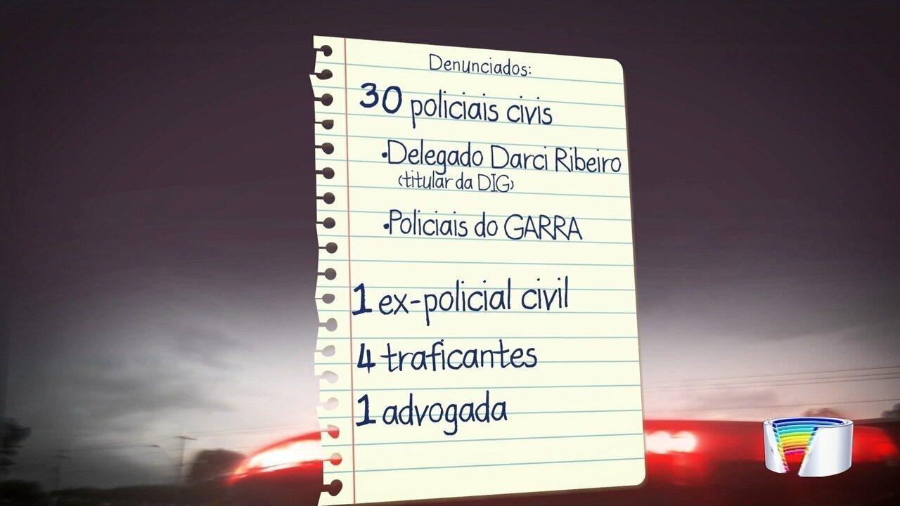 24 policiais civis de São José foram presos acusados de envolvimento com tráfico de drogas