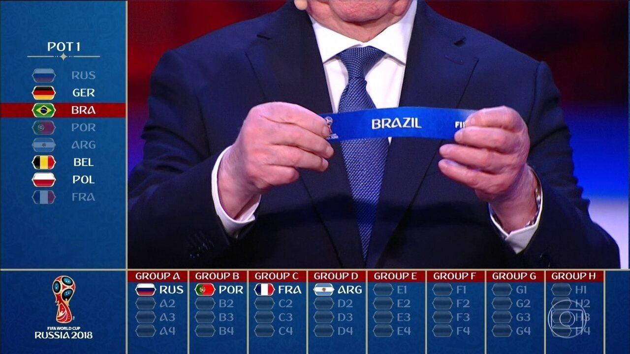 Brasil fica no Grupo E da Copa do Mundo e estreia contra a Suíça em ... 6bad1b5554605