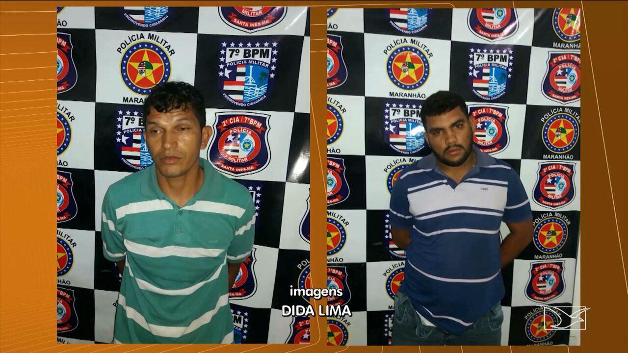 Quatro homens suspeitos de cometerem crimes no Maranhão são presos em Santa Inês