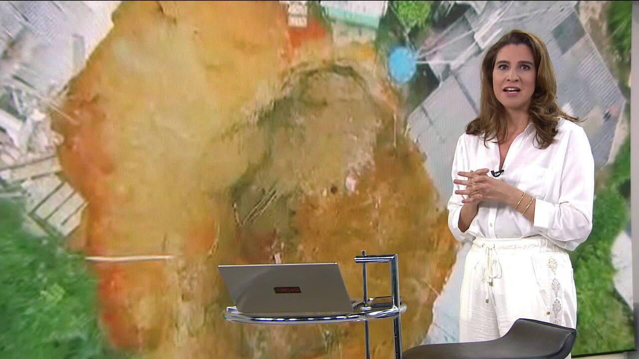 Cratera em estrada no RJ foi aberta por falta de monitoramento em obras