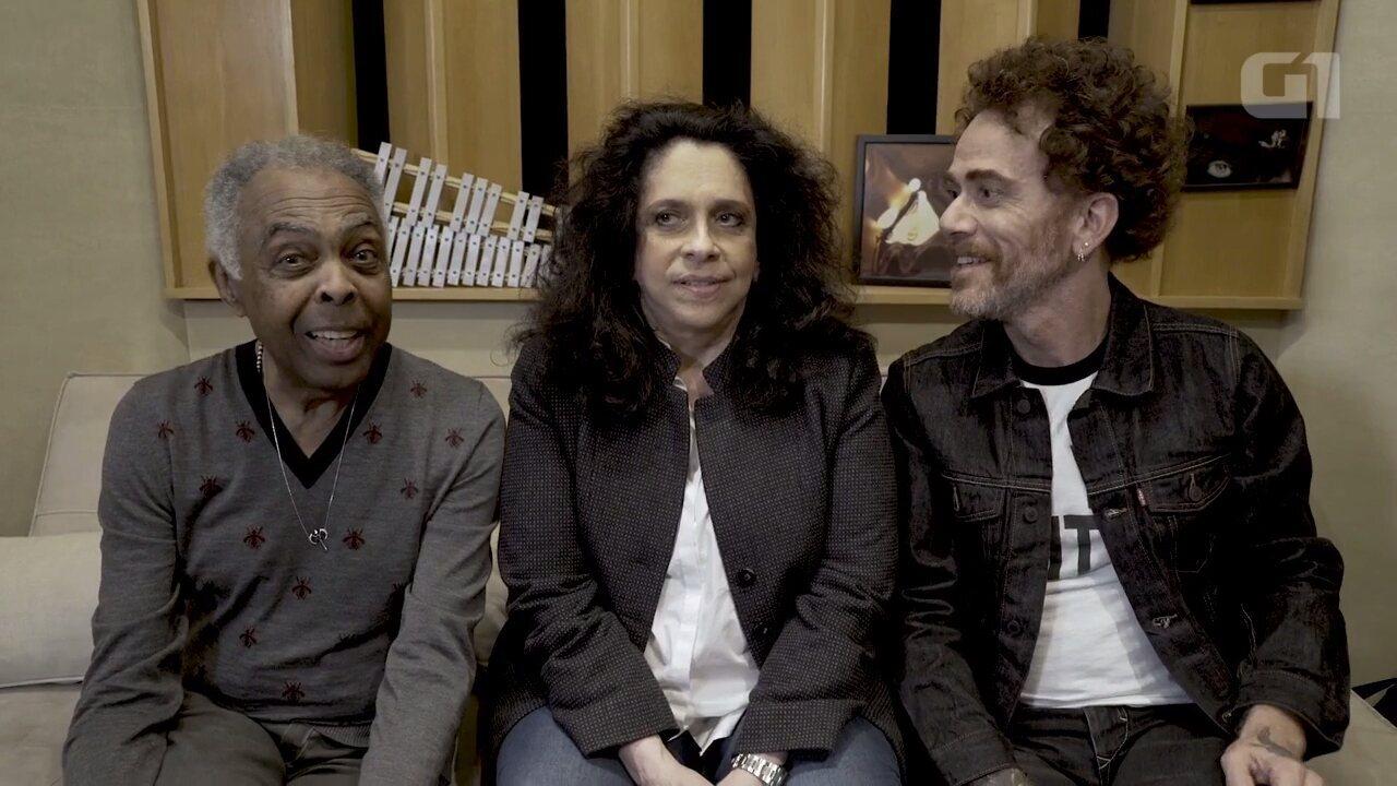 Nando Reis, Gal Costa e Gilberto Gil se apresentam em Curitiba neste fim de semana
