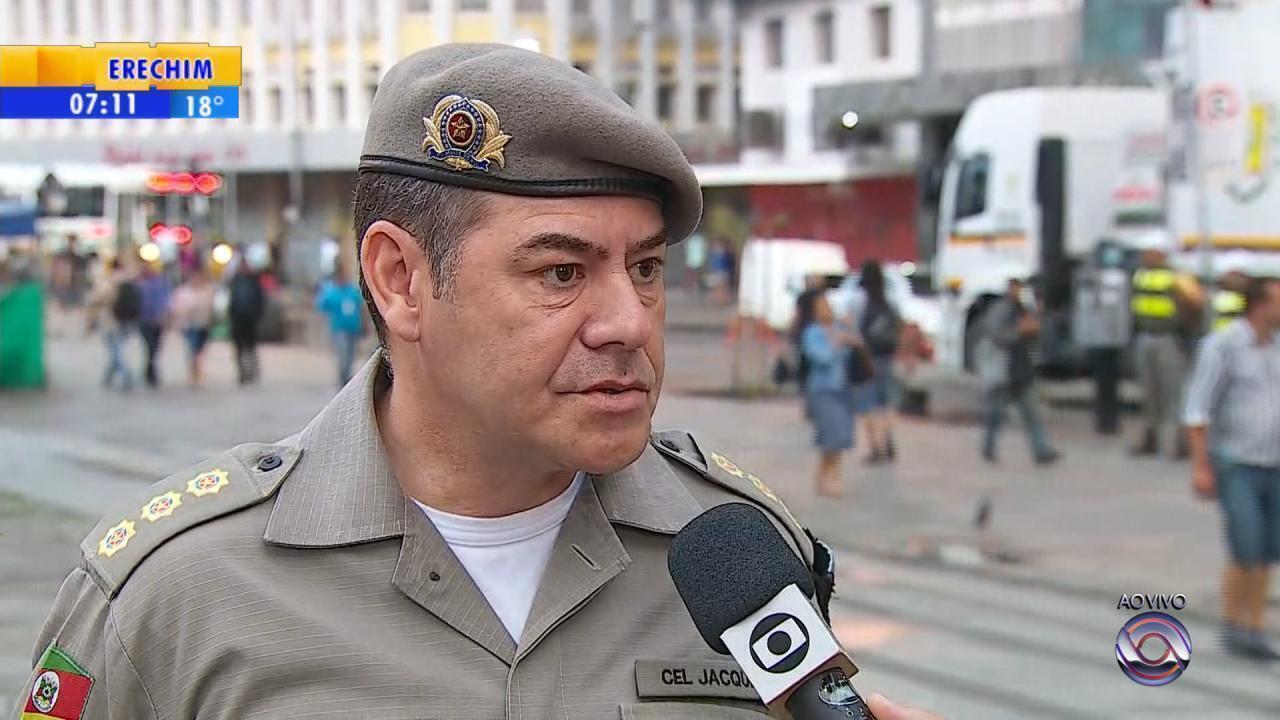 Centro de Porto Alegre é foco da Operação Avante Papai Noel