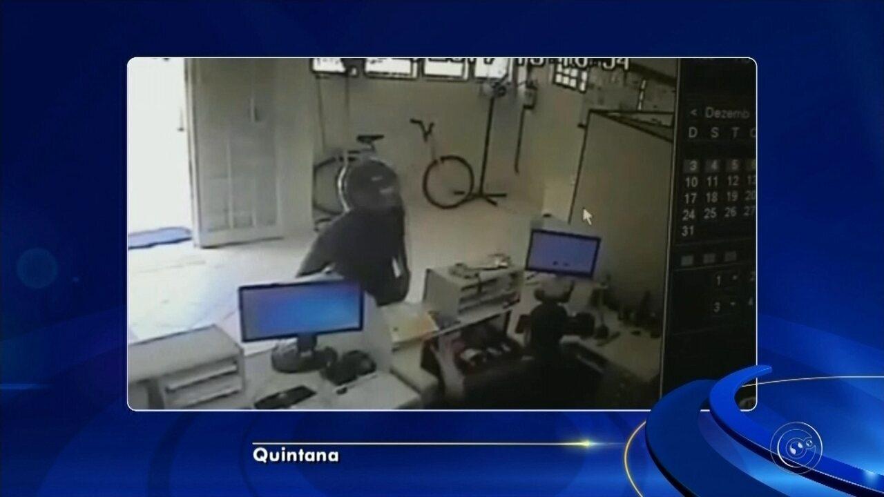 Dupla assalta agências dos Correios em Quintana