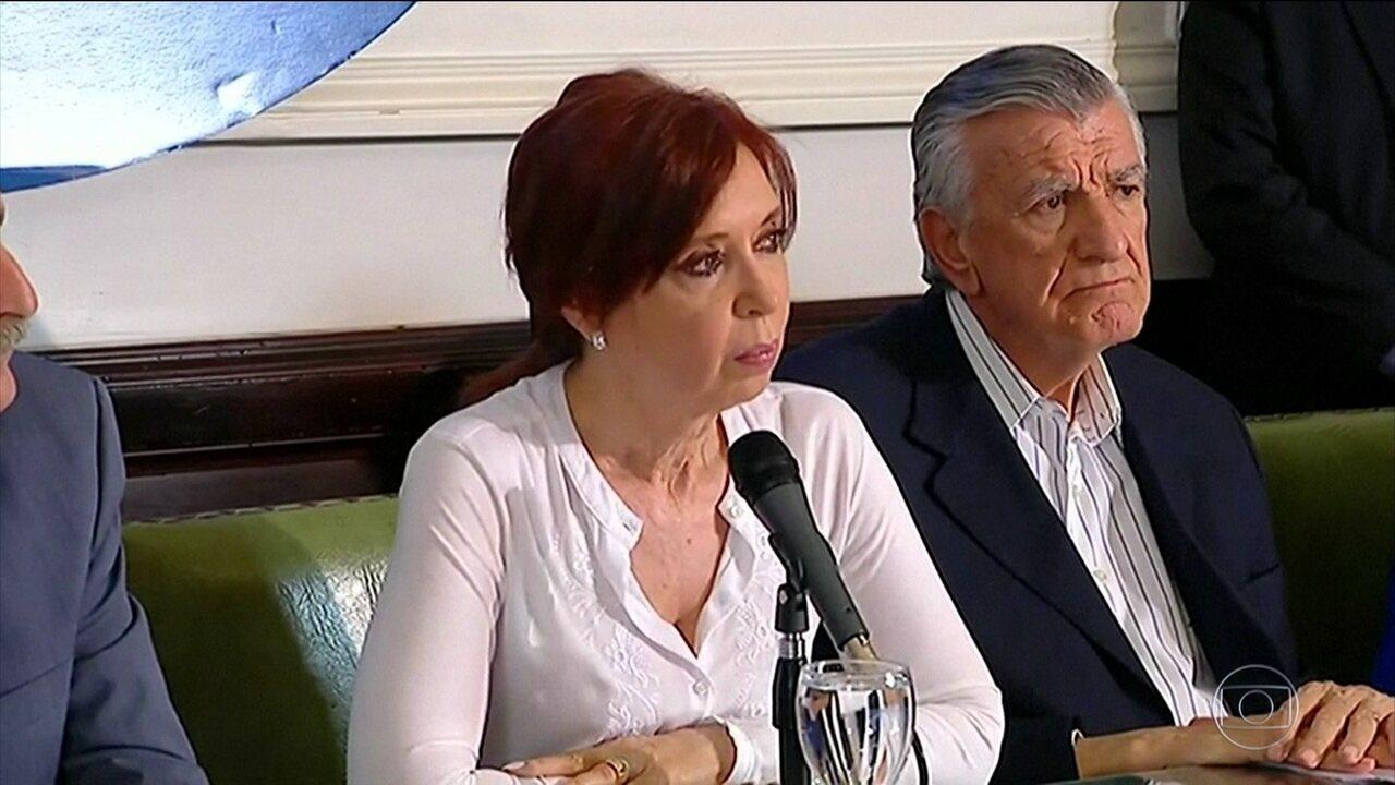 Na Argentina, juiz pede a prisão da ex-presidente Cristina Kirchner
