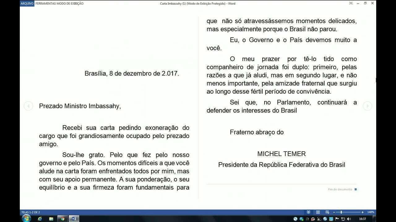 Antonio Imbassahy, do PSDB, pede exoneração do governo e Temer aceita