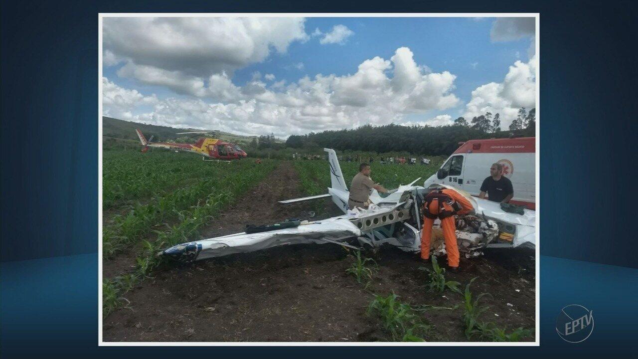 Uma pessoa morre e duas ficam feridas após queda de aeronave em Baependi (MG)