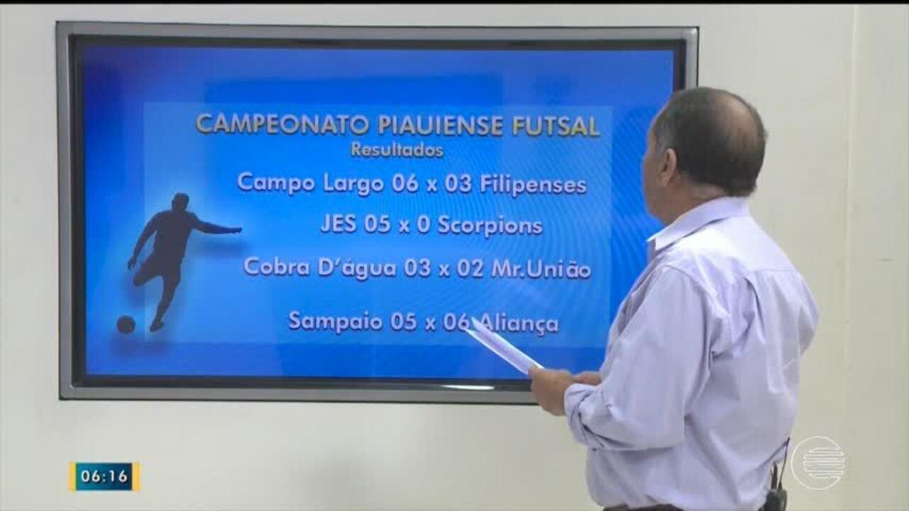 Veja os resultados das quartas de final do Campeonato piauiense de futsal 2017