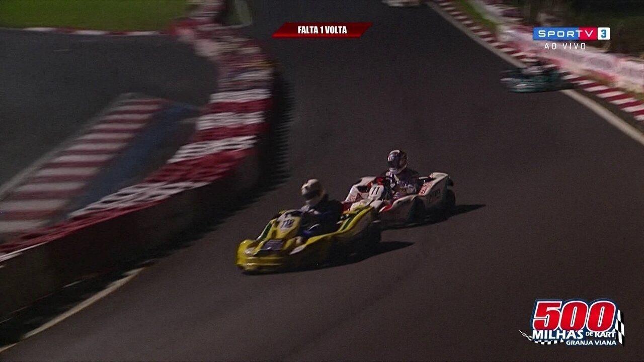 Equipe de Rubinho, a Barrichello Hero, vence as 500 milhas de kart