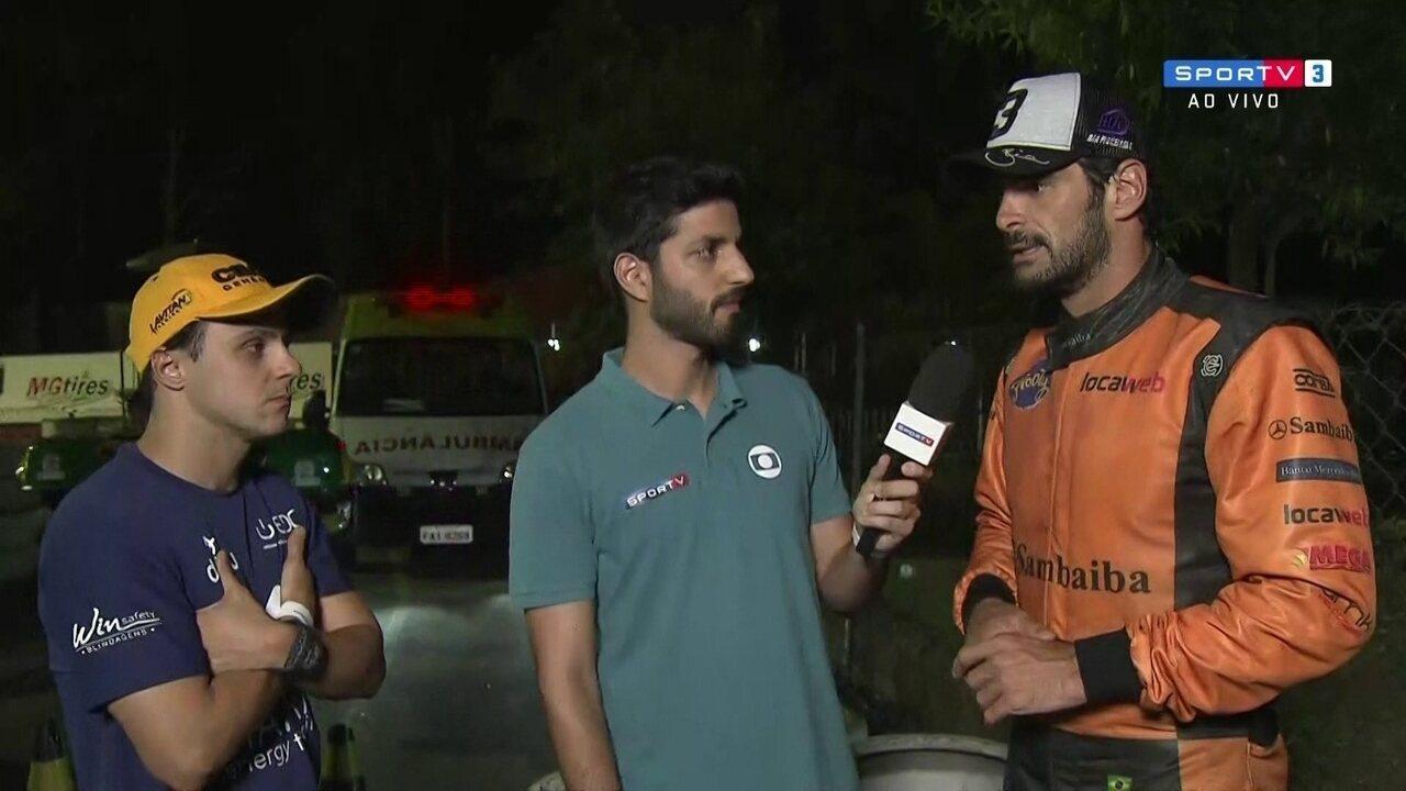 Felipe Massa e Thiago Camilo explicam confusão na corrida de 500 Milhas de Kart