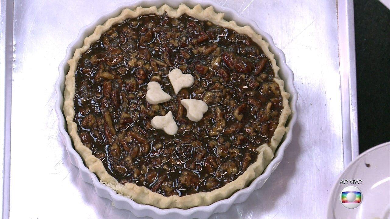Pecan Pie é tipicamente norte-americana e faz sucesso nas festas de fim de ano