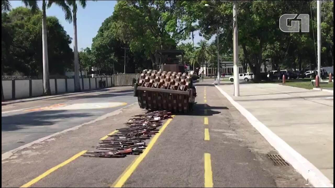 CNJ e Exército fazem destruição conjunta de armas no Rio de Janeiro