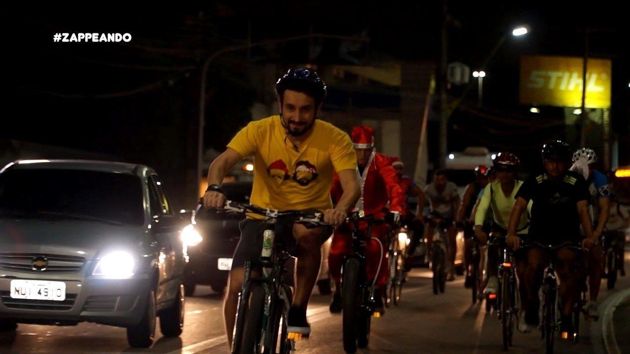 Parte 1: Isa e Moa encaram desafio de bike para assistir Espetáculo de Natal