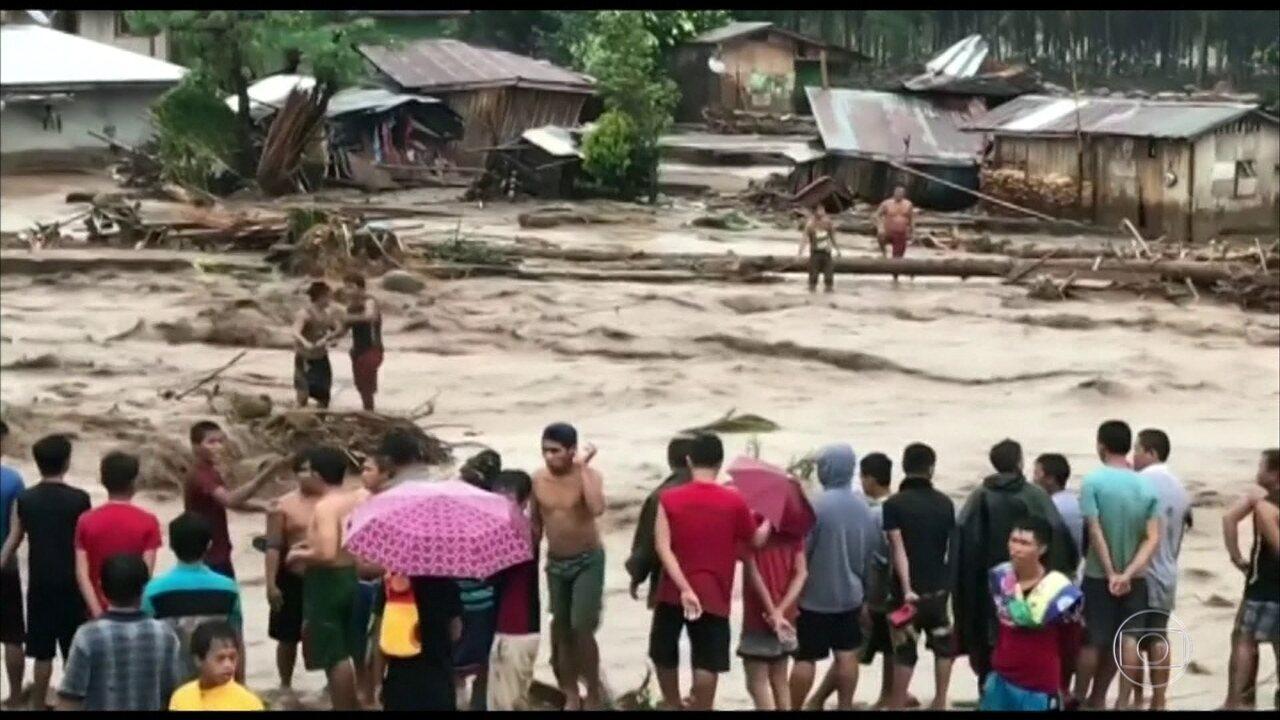 Tempestade tropical atinge Filipinas e deixa mais de 100 mortos