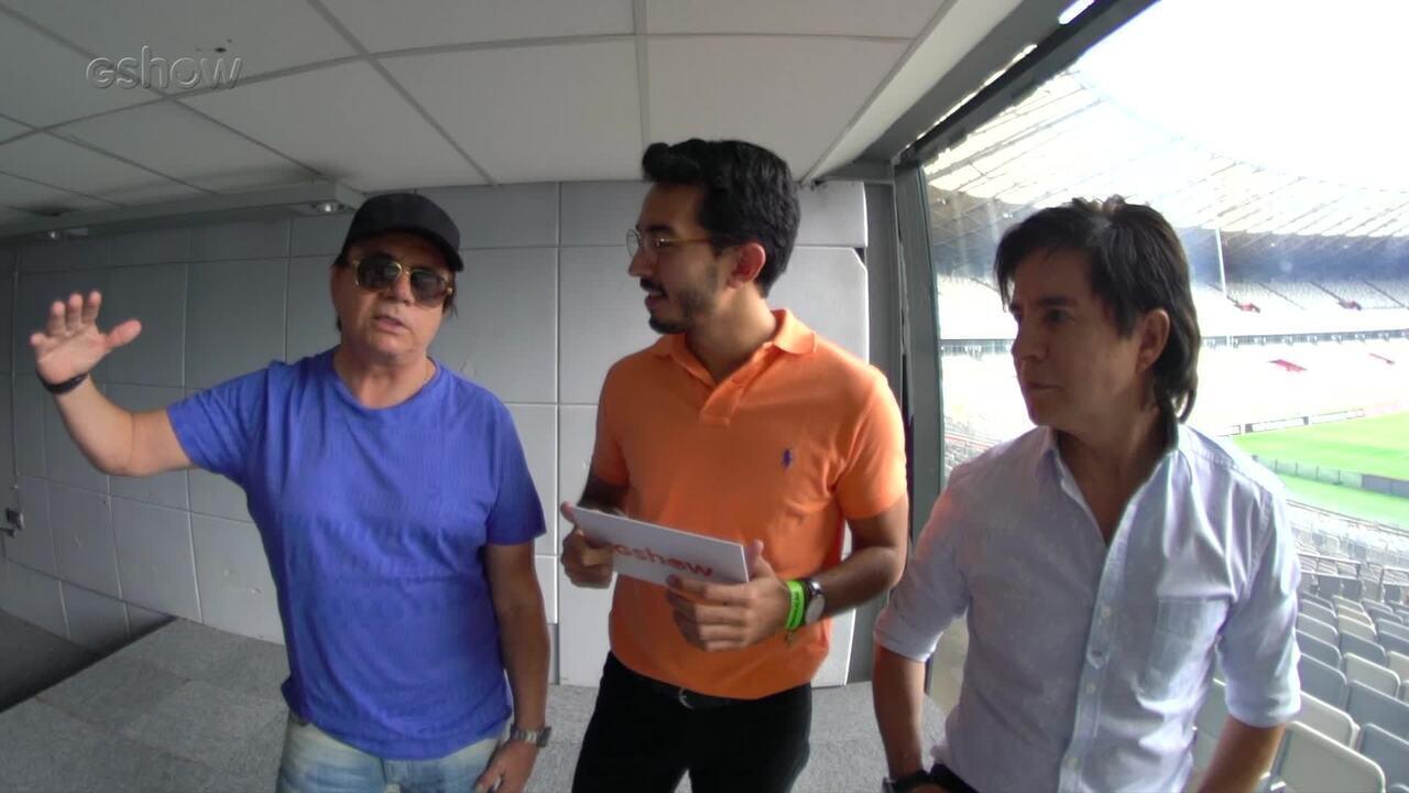 Chitãozinho e Xororó marcaram presença no 'Show da Virada'
