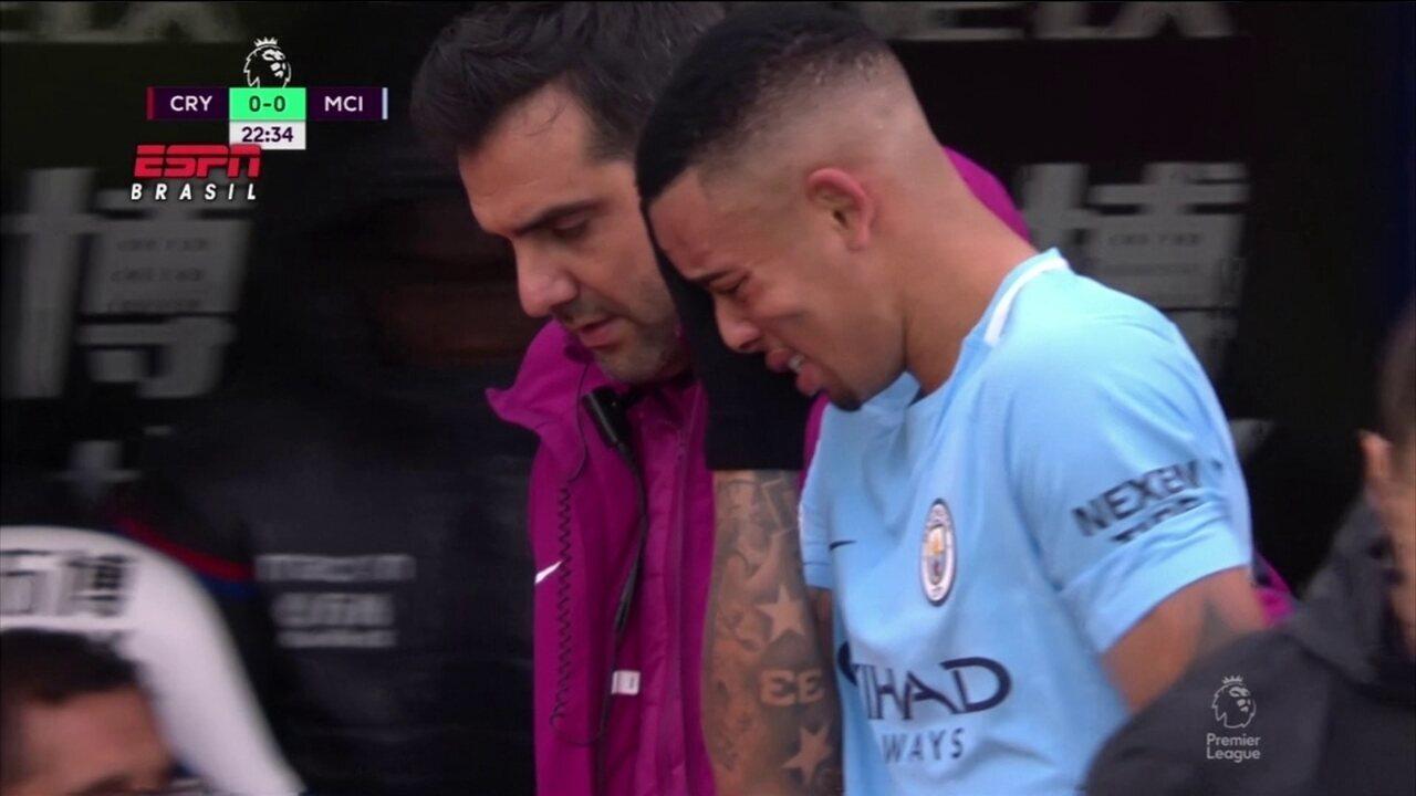 Veja imagens da lesão de Gabriel Jesus, que saiu chorando em jogo do City