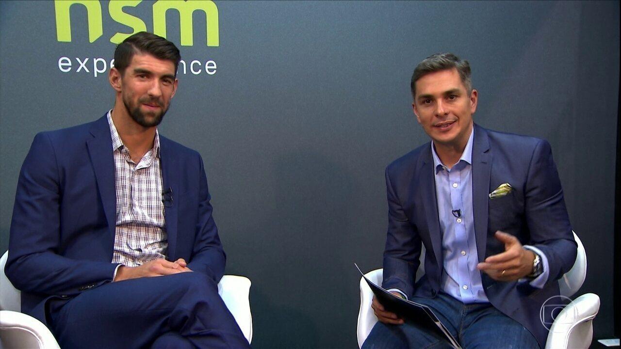 Maior campeão olímpico da história, Michael Phelps dá entrevista exclusiva ao GE