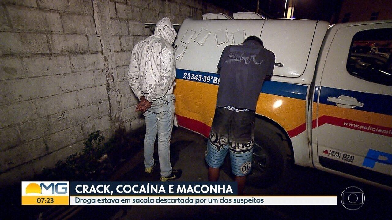 Polícia prende dois homens em Contagem por suspeita de tráfico de drogas