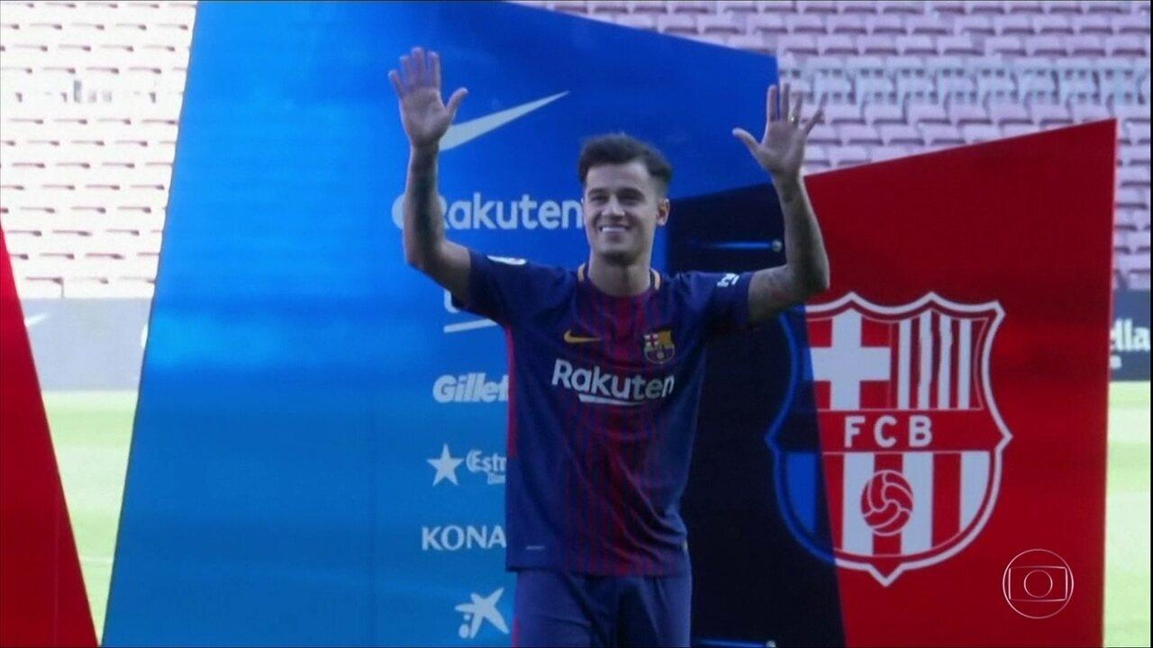 Philipe Coutinho é apresentado no Barcelona