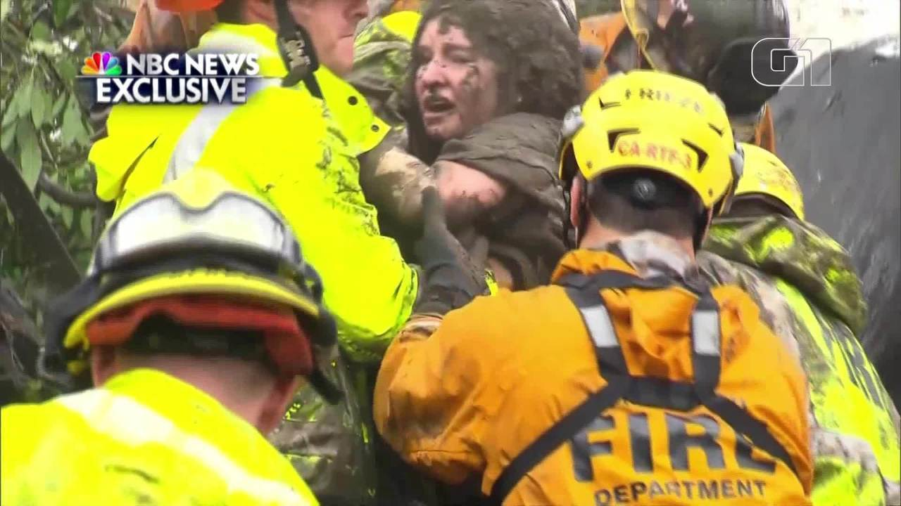 Resultado de imagem para Jovem de 14 anos é resgatada de escombros após inundação na Califórnia