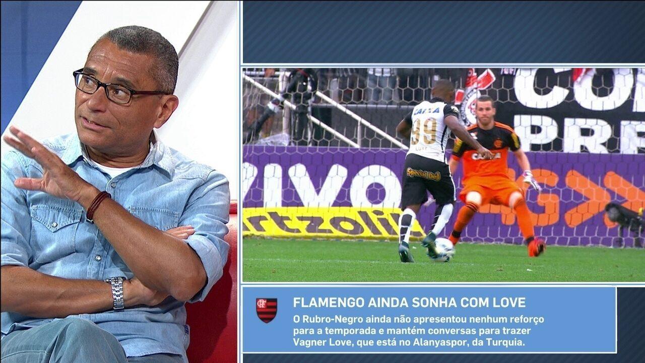 Para jornalista, Vagner Love chegaria melhor ao Flamengo do que no Corinthians em 2015