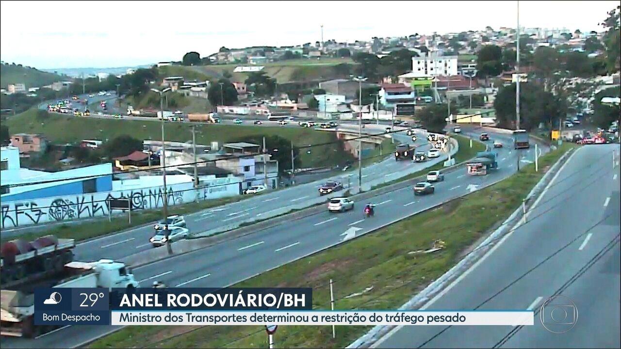 Restrição de veículos pesados no Anel Rodoviário começa até março, diz PBH
