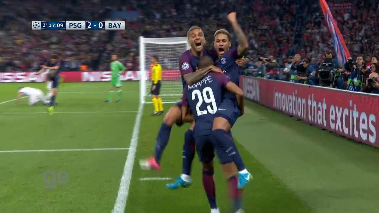 Confira os gols de Neymar pelo PSG no Campeonato Francês e na Liga dos Campeões