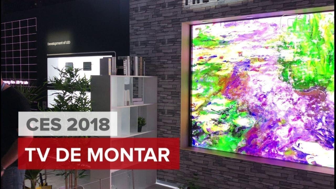 CES 2018: Veja uma TV de 146 polegadas que ocupa uma parede inteira